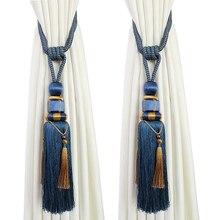 1 пара роскошных высококлассных штор tieback китайский шар висячий завязанный шар украшение кисточка аксессуары лента для галстука сзади N132