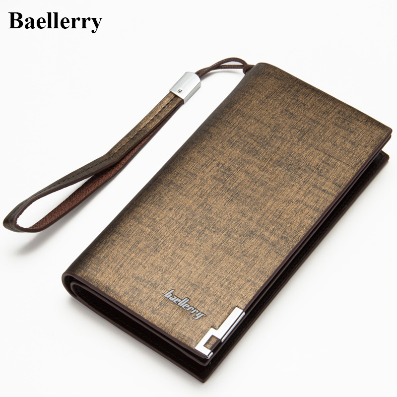 2017 Brand Leather Wallets Men Long Zipper Business Purses Man Phone Clutch Wallet Male Top Quality Money Bags With Card Holders 2016 famous brand new men business brown black clutch wallets bags male real leather high capacity long wallet purses handy bags