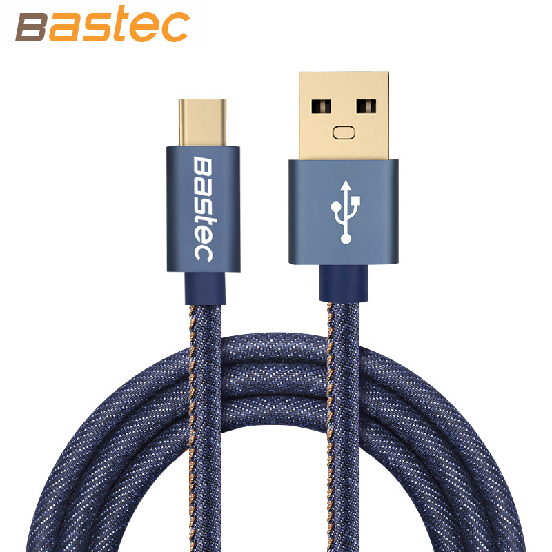 Type C Cable Bastec Denim Wire font b USB b font C Gold plated Plug Fast