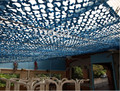 2.5M*6M filet camouflage netting blue camo netting for camping canopy beach sunshade tent shade tent  sun protection tent