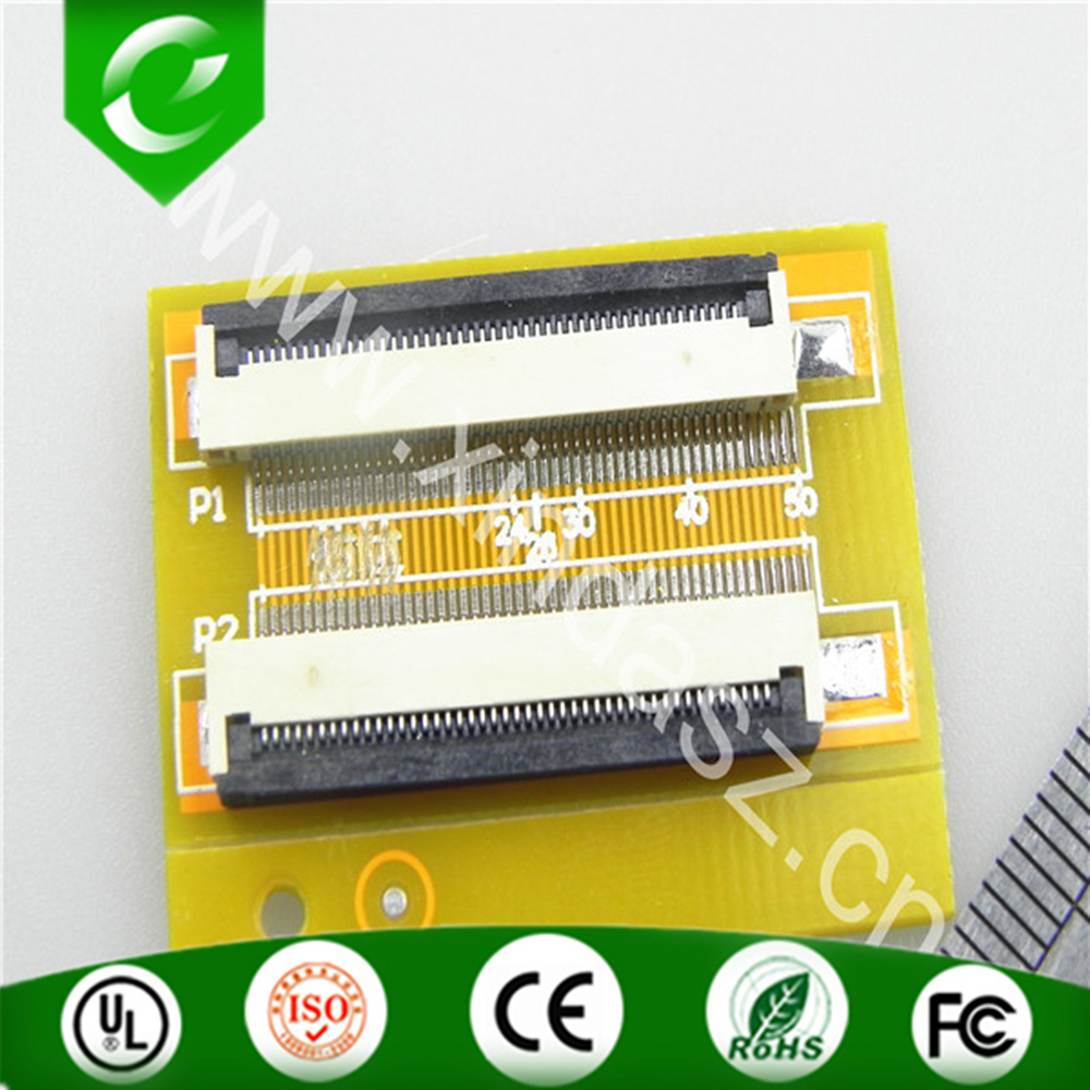 High quality 35*25mm 0.5mm pitch 45pin to 45pin electronic PCB and ffc fpc Clamshell type converter board