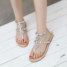 Silver Rhinestone Sexy Sandals Women Sexy Toe Gladiator Sandals Women Summer Shoes Female Flat Purity Rome Stylish Flat Sandals недорого