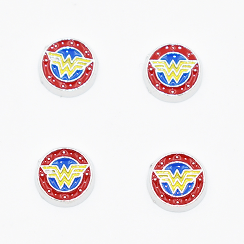Fashion Enamel Superhero Wonder Woman Locket Charms Fit For Floating Glass Living Memory Locket Pendant