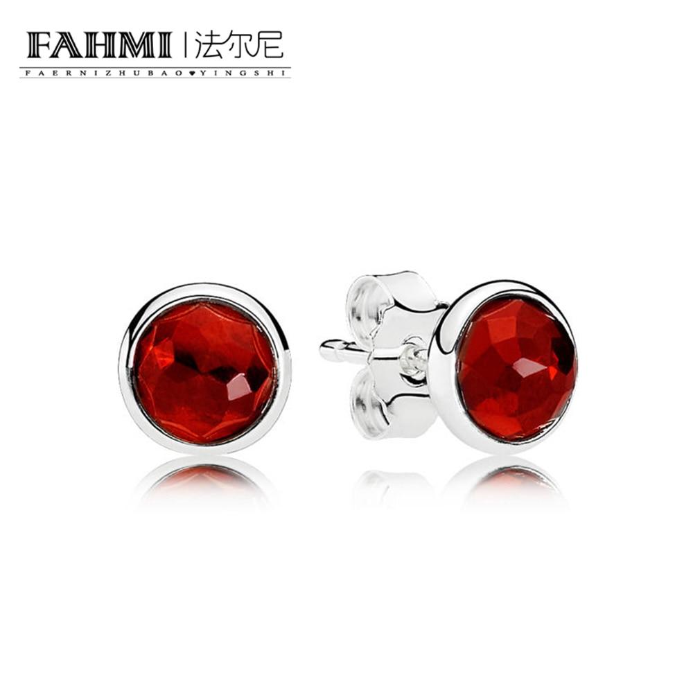 FAHMI 100% Sterling silver 1:1 Glamour 290738SRU JULY DROPLETS EARRING STUDS Original Women wedding Fashion Jewelry 2018 0