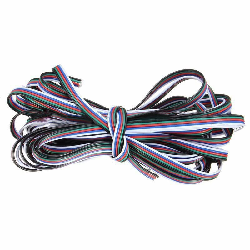 10M 5 Pin Extension Wire Cable Cord For RGBW 3528 5050 LED Strip Light Lamp