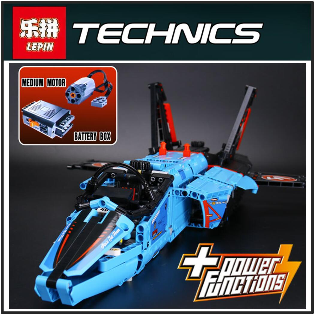 Lepin 20031 Technic The jet racing aircraft 42066 Building Blocks Model Toys For Children Compatible with lego gift set kids lepin 02025 city the high speed racer transporter 60151 building blocks policeman toys for children compatible with lego