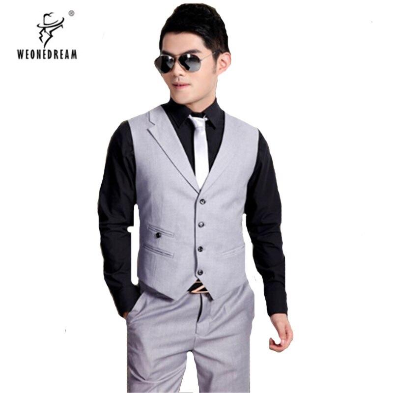 Dress Vest Blazer Waistcoat Wedding-Suit Slim-Fit Mens Fashion for Chaleco Hombre Male
