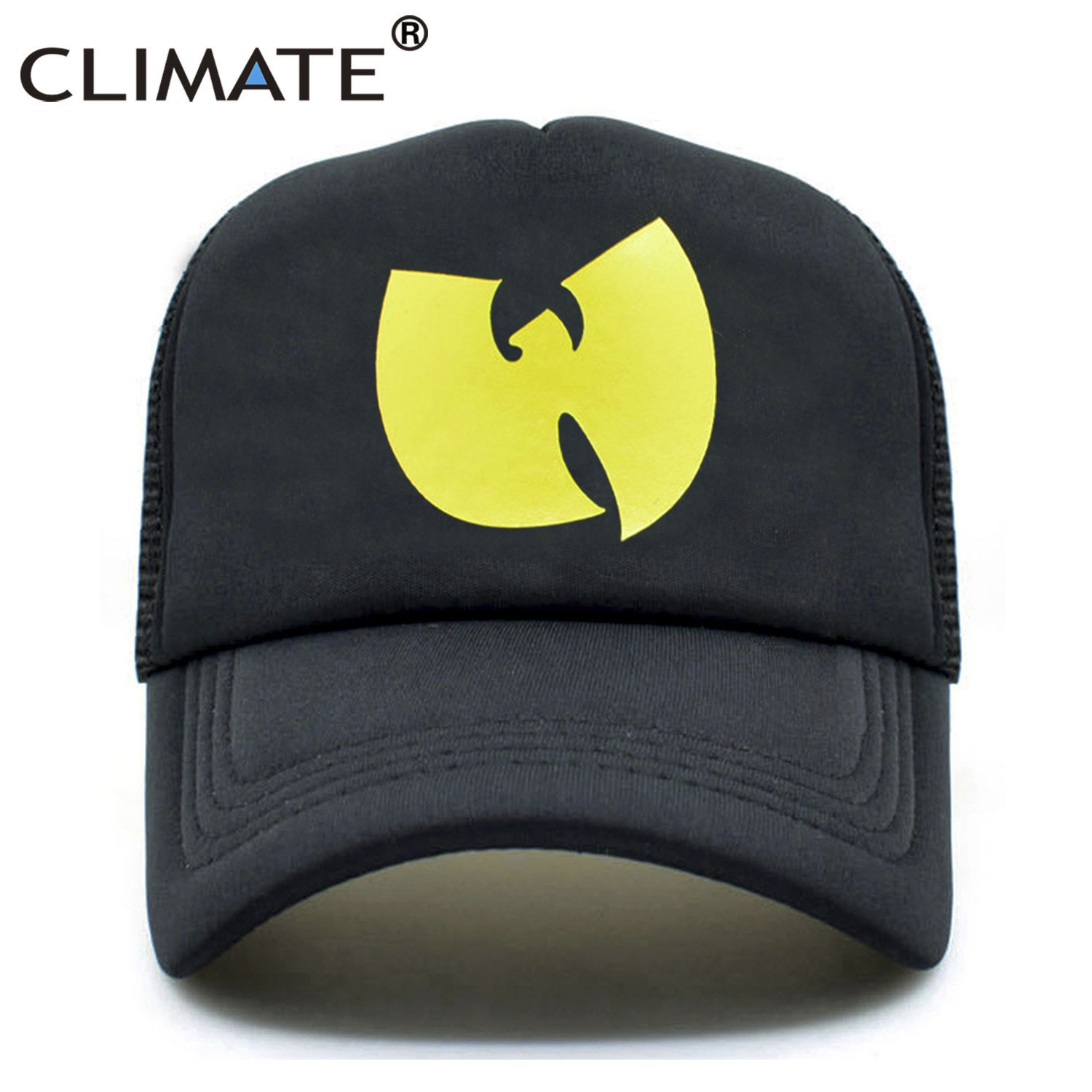 CLIMATE New Men Trucker Cap Rapper Wutang Hiphop Cap GZA WU-TANG CLAN Fans Summer Cool Cap Black Baseball Mesh Caps Hat For Men