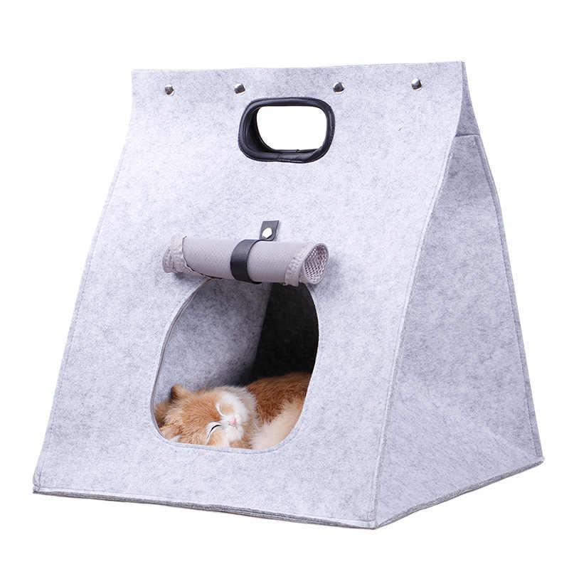 جديد الحيوانات الأليفة قابل للغسل الناقل الإبداعية الكلب القط الناقل حقيبة طوي جرو كلب صغير الحيوانات الأليفة يد المحمولة تنفس بيت للكلب