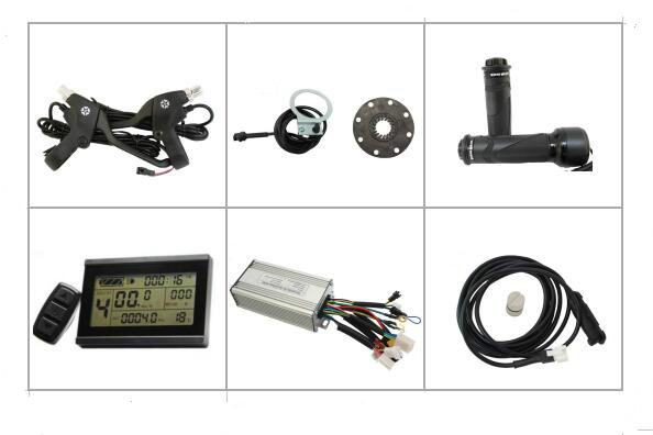 36V48V 500W 750W Ebike Set Brushless Controller Regenerative and Reverse Function LCD3 Display PAS Twist Throttle
