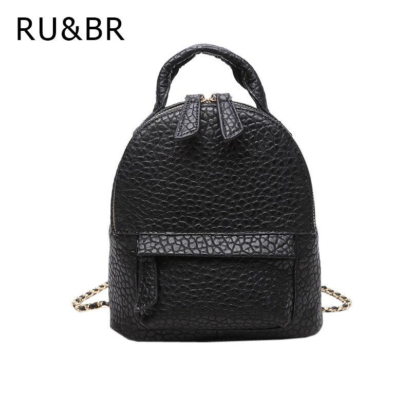 RU BR Korean New Fashion Tide Backpacks Simple Mini Dual Use Shoulder Bag High Quality Small