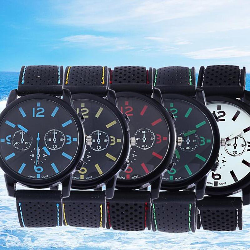 Fashion Unisex Watch Silicone Analog Quartz Sports Wrist Women Men Business relogio masculino