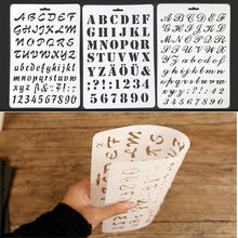 hot deal buy enhance intelligence alphabet letter stencil thin plastic letter number paint art craft gift baby drawing toys hot