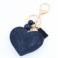 High Quality Romantic Heart Jewelry Keychain Women Key Holder Chain Ring Car llaveros bag pendant Charm Free delivery(China)