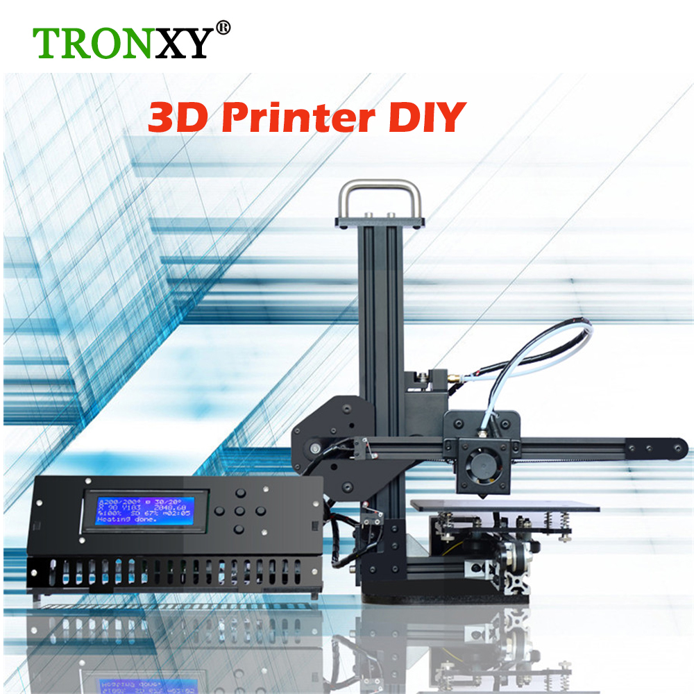 tronxy education 3d printer diy kit high precision desktop aluminium profile 3d imprimante x1. Black Bedroom Furniture Sets. Home Design Ideas
