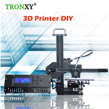 Tronxy Education 3d printer DIY kit High Precision desktop aluminium profile 3d Imprimante X1 with 8GB sd card 1 roll flament