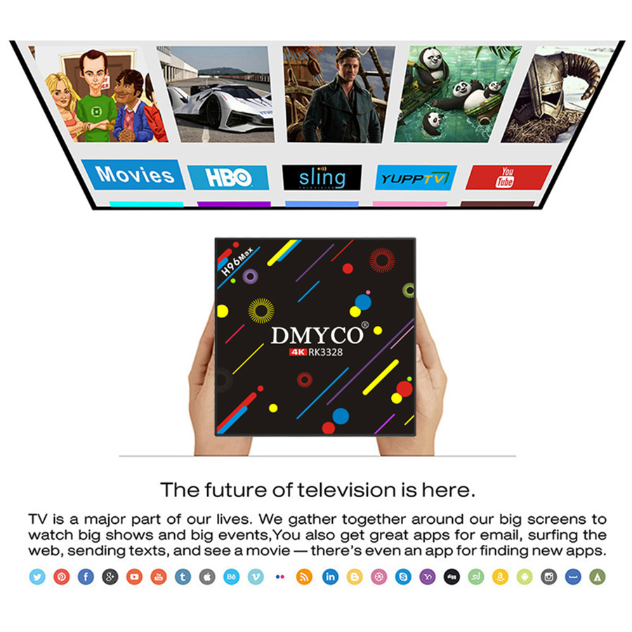 Image 5 - Android TV BOX H96 Max H2 Android 7.1 Smart TV Box 4G 32G RK3328 Quad Core Support Youtube 5G WiFi Russian 4K Set Top Box-in Set-top Boxes from Consumer Electronics