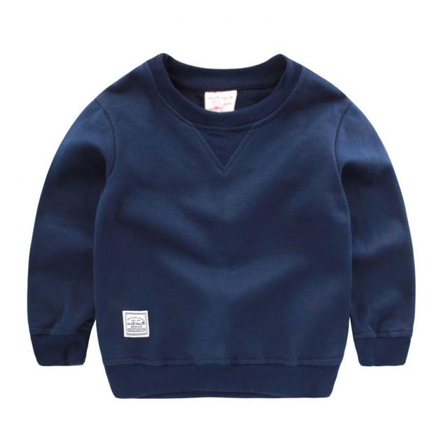 Outono Inverno Crianças Svitshot Crianças Menino Listrado Em Torno Do Pescoço Tops de Algodão Quente Crianças Camisola de Manga Longa Maré Bebê U4072