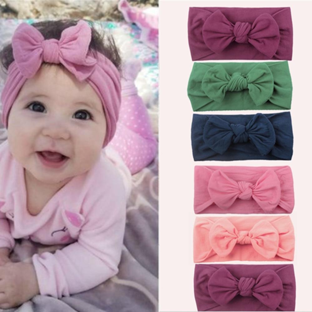 EMPHY 3Pcs Baby Turban Knot Infant Headbands Bohemian Head Wrap 1-6 M