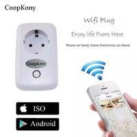 EU Smart Wifi Plug Socket Wifi Timer Adapter Mini Wifi Socket Plug Outlet Smart Remote