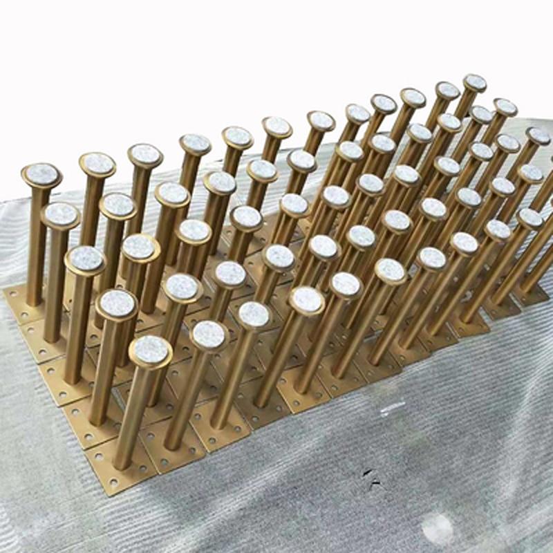 4Pcs 60*160mm 60*210mm Gold bronze Furniture Cabinet Cupboard Adjustable Metal Legs Table feet   Verified Lab Test Supports-in Furniture Legs from Furniture
