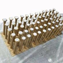 Soportes de prueba de laboratorio verificados, 60x160mm, 60x210mm, muebles de bronce dorado, armario, patas de Metal ajustables, patas de mesa, 4 Uds.