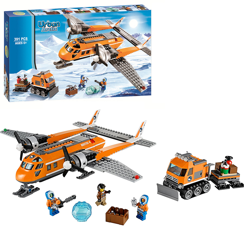 Bela City Series 10441 391pcs Arctic Supply Plane Model Compatible LEPIN Figure Building Blocks Bricks Toys For Children 1711 city swat series military fighter policeman building bricks compatible lepin city toys for children