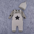 Long Sleeve Girl Boys Rompers and Hat Costumes Baby Romper Newborn Baby Rompers Baby Clothing Set Fashion Cotton Infant Jumpsuit