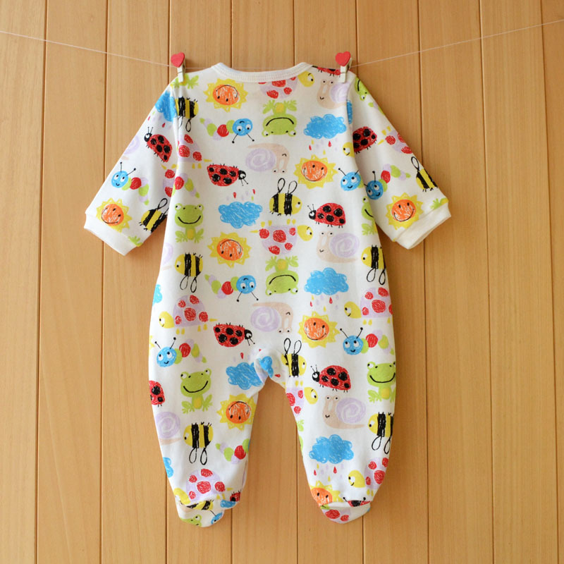 17 New spring cartoon baby rompers cotton 100% girls and boys clothes long sleeve romper Baby Jumpsuit newborn baby Clothing 17