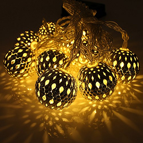 New Style Set of 10 1m Ball String Lanterns LED Fairy Lights Battery Operated Garden Wedding Home Party Christmas Decoration