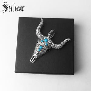 Image 3 - Pingente touro étnico crânio cor prata para as mulheres homens moda jóias presente coração rebelde pingente apto colar thomas