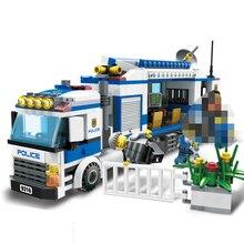 GUDI 9316 Kids Toys 407Pcs Urban City Police Commandos Building Block Figures Kids Toys For Children Compatible Legoings City стоимость