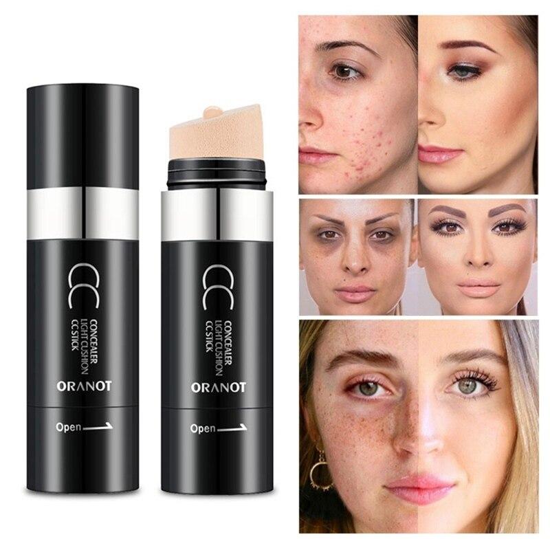 Waterproof CC Moisturizing Foundation Makeup Cover Up Whitening Concealer Stick Brighten Skin Color
