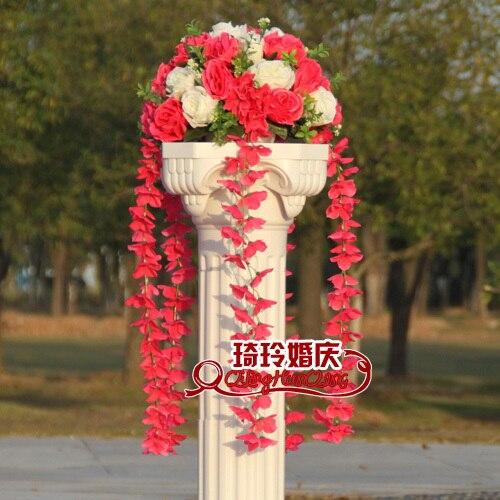 Свадебные композиция Диаметр Цветок свадебное оформление букета цветок для дорожного свинец римская колонна 4 шт./лот - Цвет: 9