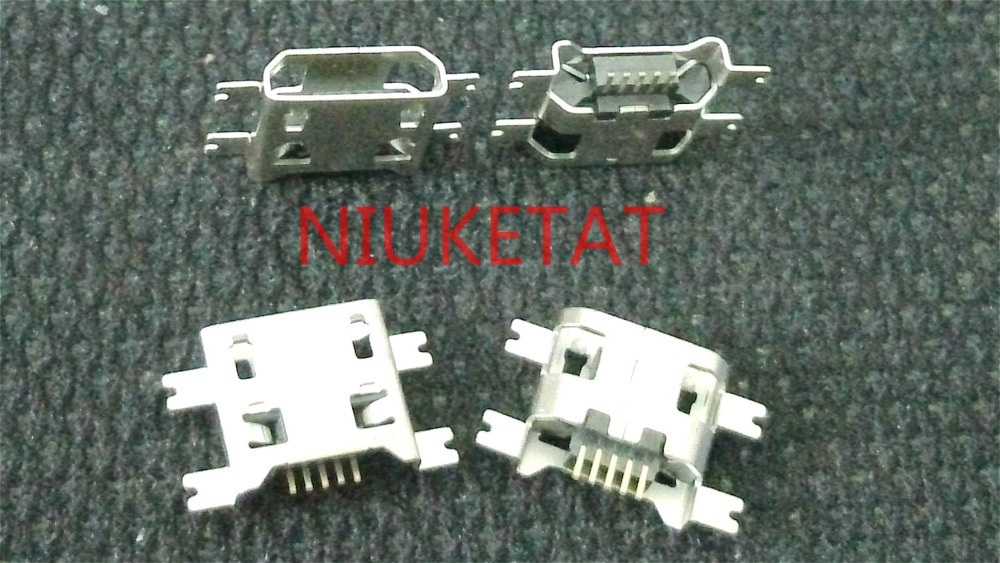 50pcs Micro USB Connector 5pin 0.7mm heavy plate B type no side Female Jack For Mobile Mini USB repair mobile tablet Tail plug 10pcs micro usb connector 5pin 0 72mm heavy plate b type have curling side female jack for mobile mini usb repair mobile tablet
