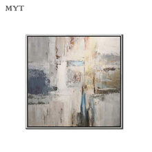 Professional Art Handmade Abstract light Gray painting On Canvas Poster Wall Art Picture for Living Room Home Decor no framed(China)