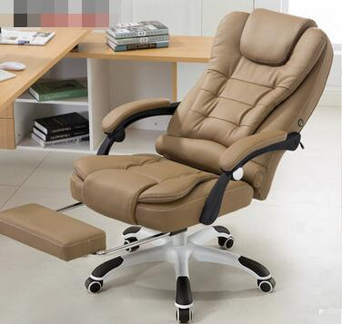 Can lie office chair USB massage foot leather chair 240337 ergonomic chair quality pu wheel household office chair computer chair 3d thick cushion high breathable mesh