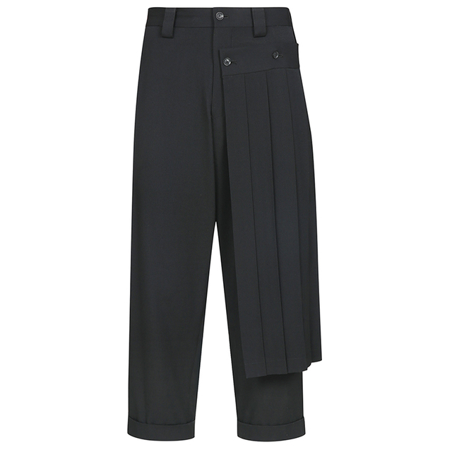 Double men's trouser skirt pants and nine-point tapered bobbin trousers, deconstructed vertical cut yohji spring pants.  S-9XL!! 5
