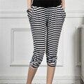 Материнство Брюки adicolo полосатые брюки для беременной женщины Харен беременных женщин живота регулируемые Семь очков брюки