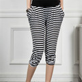Maternity Pants adicolo striped trousers for pregnant woman Haren pregnant women abdominal adjustable   Seven points pants