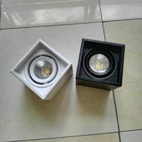 12 W קריס COB LED Downlight LED תקרת מנורות AC110V AC240V משטח הר קבינט קיר ספוט Down אור מנורת תקרת בית תאורה