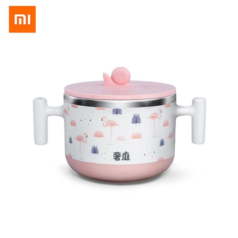 Xiaomi Thermostat Intelligent bébé enfants bol de nourriture complément de lait alimentaire chauffe-bouteille réchauffeur 440ml doublure en acier inoxydable
