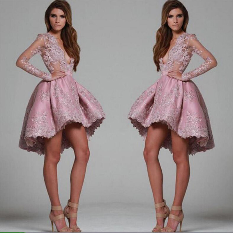 Robes Custom Longue Made Robe Rose Manches Courtes Parti Bal Profond Mode Soirée Haut Festa Sexy En Formelle Bas De Col V qE6vawfZnE