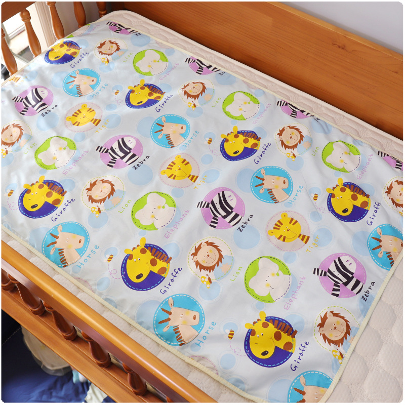Big Size Baby Changing Mat Cartoon Cotton Waterproof Sheet Diapers Floor Urinal Pad Game Play Cover Infant Mattress Climbing Mat | Happy Baby Mama
