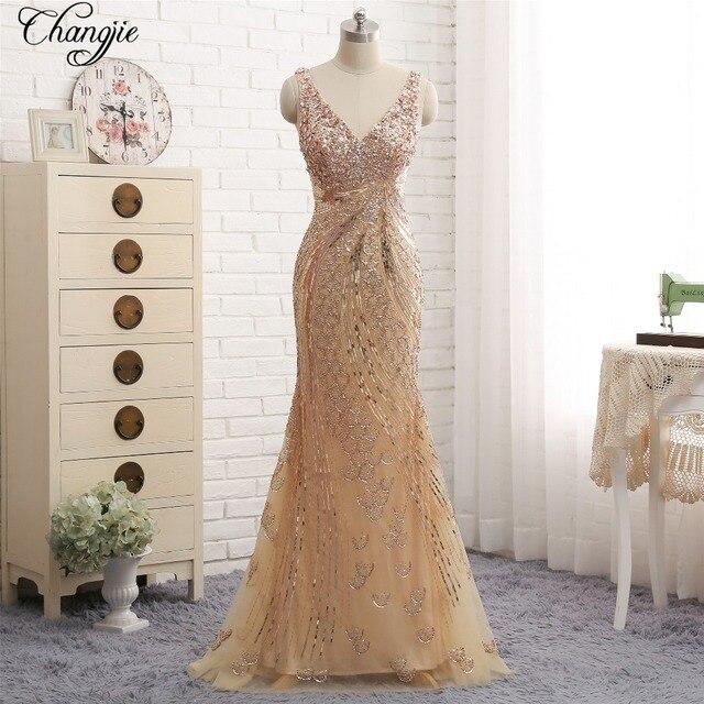 96232ad728e2 New Fantastic Lunghi Prom Dresses 2018 Con Scollo A V Senza Maniche  Pavimento-Lunghezza Perline di
