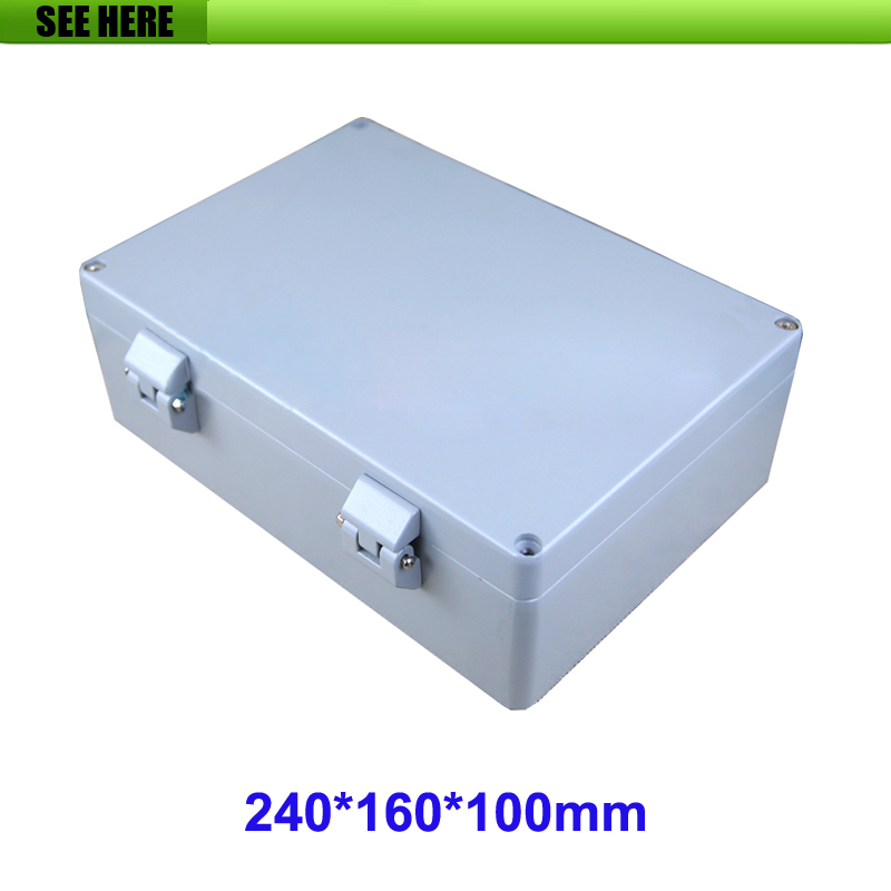 Aluminium IP66 Waterproof Junction Box DIY Outdoor Electrical Connection 240*160*100mm factory supply waterproof and dustproof ip67 waterproof electrical junction boxes 160 160 70mm