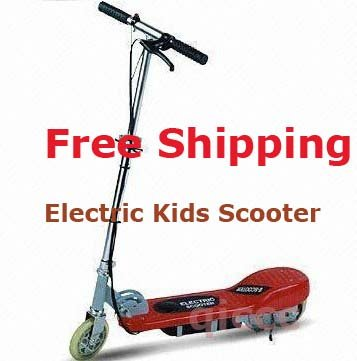 Free shipping Electric Kids Boy's Girl's Scooter RED 10Mph
