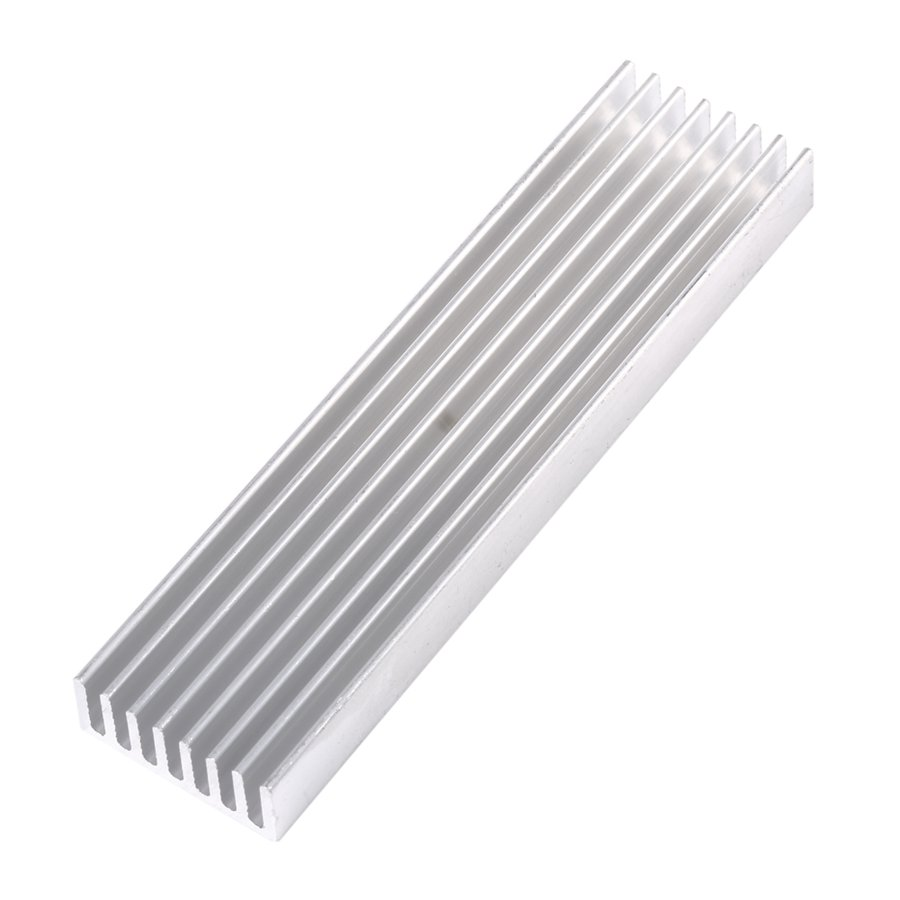 100*25*10mm DIY Cooler Aluminum Heatsink Heat Sink Chip For IC LED Power Transistor