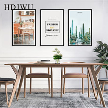 Nordic Canvas Painting Wall Picture Cactus Plant Printing Posters Pictures for Living Room  Decor AJ00125