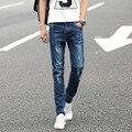 Четыре Сезона может носить jussara мужская мода марка Тонкий Прямой джинсы талии Молодые люди прямые брюки качества джинсы для мужчин